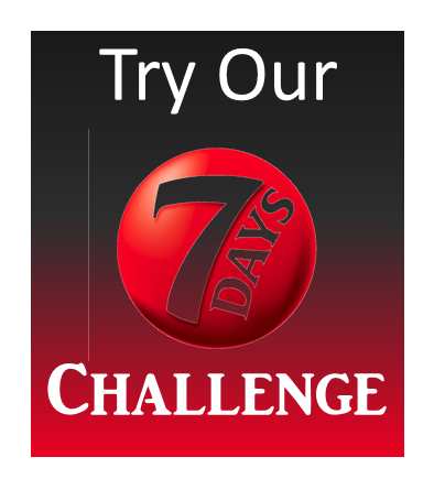 7 day challenge website widget